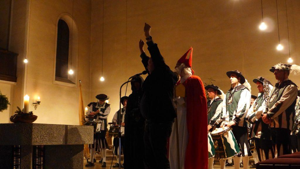 Pastor Franke in seinem Element